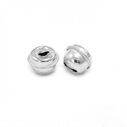 Κουδούνι στρογγυλό 13mm σε ασημί-ανα τεμάχιο