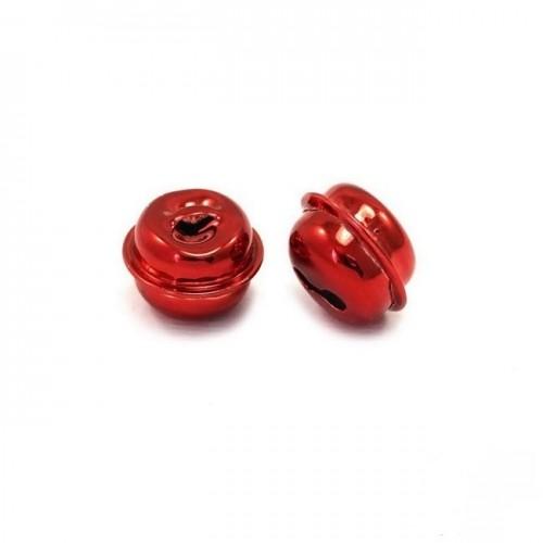 Κουδούνι στρογγυλό 13mm σε κόκκινο-ανα τεμάχιο