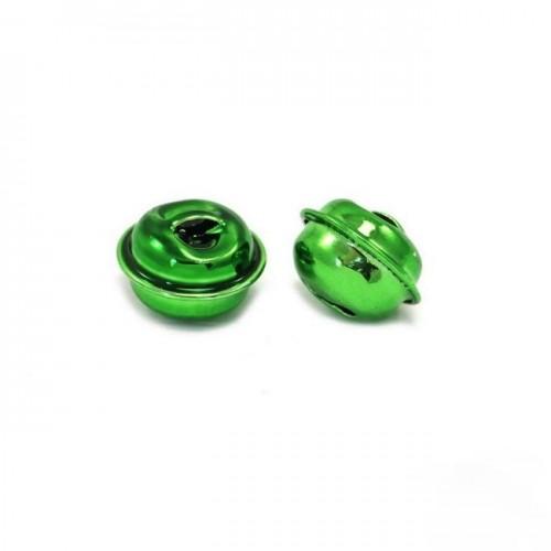 Κουδούνι στρογγυλό 13mm σε πράσινο-ανα τεμάχιο