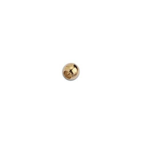 Μπιλάκι από ορείχαλκο 4mm επιχρυσωμένο 24κ - τιμή ανά τεμάχιο