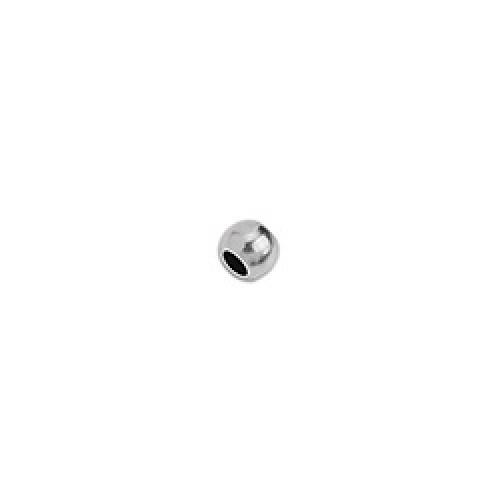 Μπιλάκι από ορείχαλκο 4mm επάργυρο σε ασημί αντικέ - τιμή ανά τεμάχιο