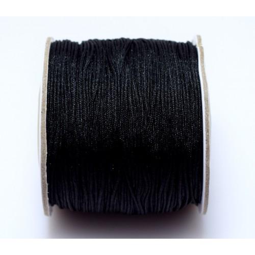 Κορδόνι σε μαύρο χρώμα 0,7mm κατάλληλο για πλεξιματα-μακραμέ