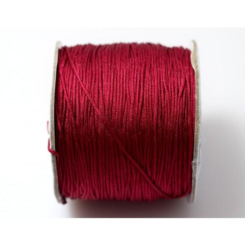 Κορδόνι σε μπορντω χρώμα 0,7mm κατάλληλο για πλεξιματα-μακραμέ Τιμή ανα μέτρο