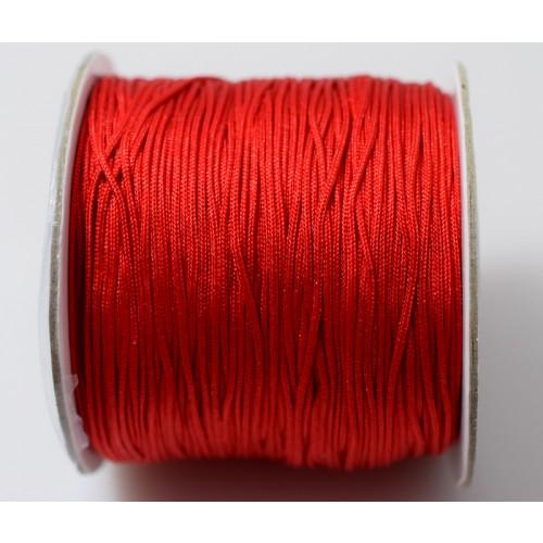 Κορδόνι σε κόκκινο χρώμα 0,7mm κατάλληλο για πλεξιματα-μακραμέ Τιμή ανα μέτρο