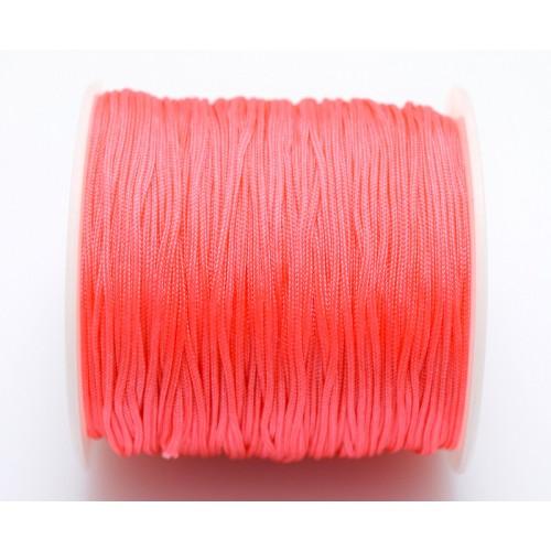 Κορδόνι σε ΚΟΡΑΛΊ  χρώμα 1mm κατάλληλο για πλεξιματα-μακραμέ Τιμή ανα μέτρο