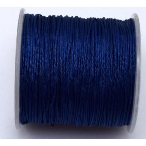Κορδόνι κατάλληλο για μακραμέ 1mm-ΟΙΚΟΝΟΜΙΚΗ ΣΕΙΡΑ-σε σκουρο μπλε     τιμή ανα καρούλι ~100μέτρα