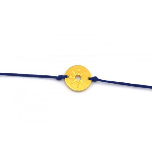 Μεταλλικό στρογγυλό μοτίφ πυξίδα 16mm με δύο τρυπες σε χρυσαφί     τιμή ανα τεμάχιο