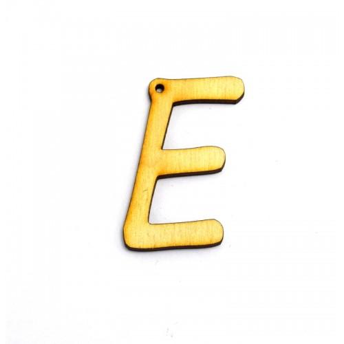 """Ξύλινο κρεμαστό γράμμα  5cm με τρύπα """"Ε"""" Τιμή ανα τεμάχιο"""