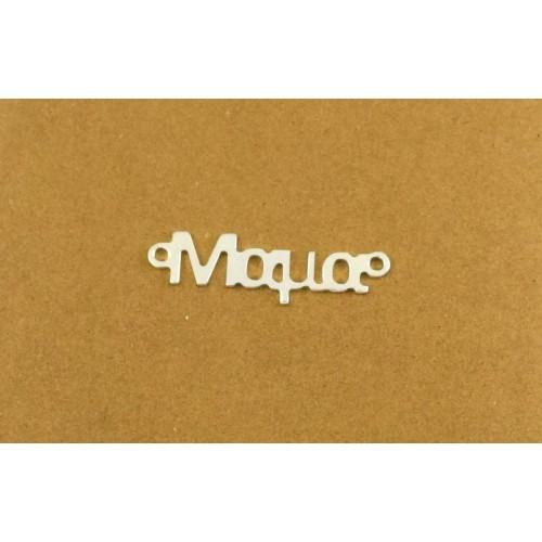 """Μεγάλο μοτίφ 34x8mm με δύο κρικάκια που γράφει """"Μαμα"""" σε επαργυρωμένο ορείχαλκο πολύ καλή κατασκεύη τιμή ανα τεμάχιο"""