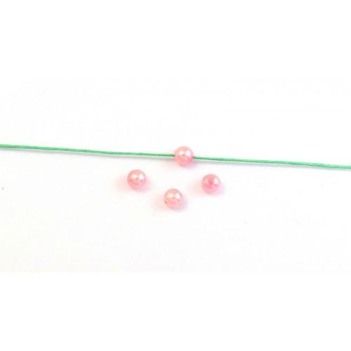 Στρογγυλή πέρλα 6mm σε ροζ χρώμα τιμη ανα σετ 5 τεμαχιων