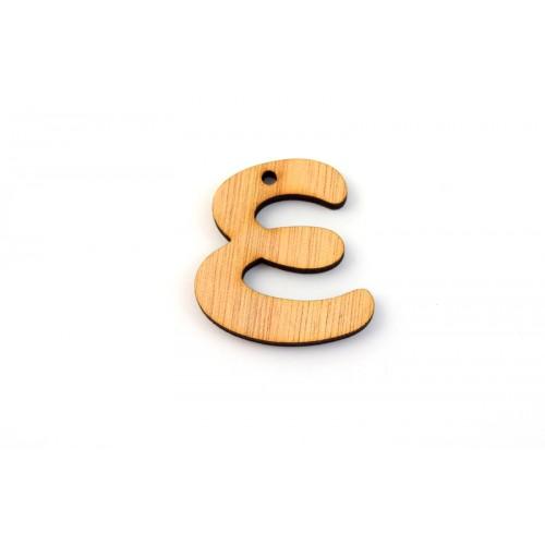 """Ξύλινο Μοτίφ Γράμμα """"ε"""" 43x39mm τιμή ανα τεμάχιο"""
