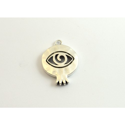 Σφυρήλατο ρόδι-μάτι 35mm ασημί αντικέ