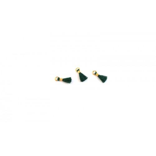 Μίνι φουντίτσα 10mm με κρικάκι  χρυσαφί σε κυπαρισσί χρωμα τιμή ανα τεμάχιο