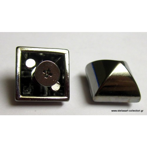 Μεγαλό τρουκ με βίδα απο κάτω 15mm σε τετράγωνο σχήμα σε ανθρακι απόχρωση     τιμη ανα τεμάχιο