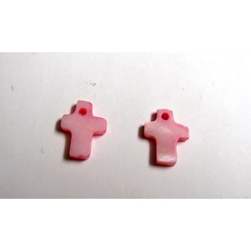 Φίλντισι σταυρός ροζ μικρός 13x10MM(τιμή ανα τεμάχιο)
