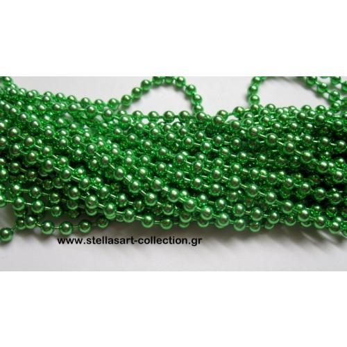 Μεταλλικη  αλυσίδα καζανάκι 3.2mm σε ανοιχτό πρασινο γυαλιστερό χρώμα     τιμή ανα μέτρο