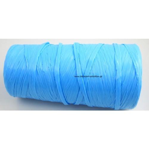 Απομίμηση ψάθας περιπου 270μετρα (240γρμ)σε γαλάζιο χρώμα τιμη ανα καρούλι(~270μετρα)
