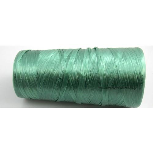 Απομίμηση ψάθας περιπου 270μετρα (240γρμ)σε πρασινο λαδί χρώμα     τιμη ανα καρούλι(~270μετρα)