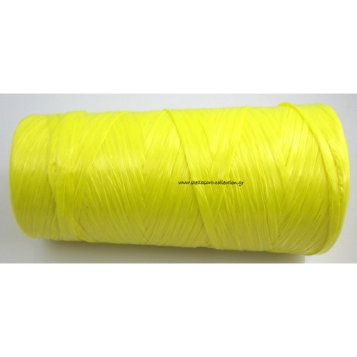Απομίμηση ψάθας περιπου 270μετρα (240γρμ)σε κιτρινο χρώμα     τιμη ανα καρούλι(~270μετρα)