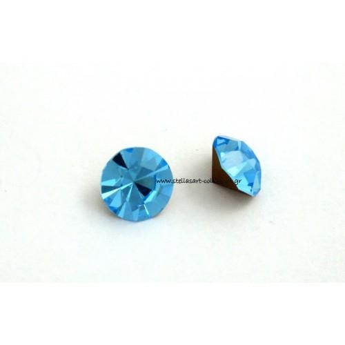 Κρυστάλλινο στρας κωνικό PRECIOSA SS39(~9mm) σε ακουαμαρίνα χρώμα     τιμή ανα τεμάχιο