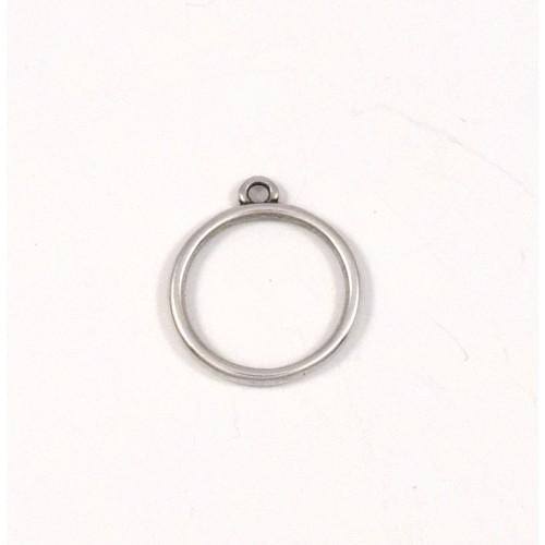 Μικρός κρεμαστός κρίκος περίγραμμα 16,8 x 19 mm κρεμαστό σε επάργυρο αντικέ  τιμή ανα τεμάχιο