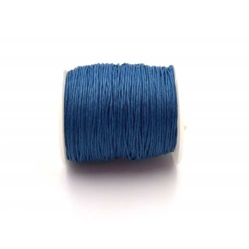 Κορδόνι υφασμάτινο κερωμένο 1mm σε μπλε σιέλ χρώμα - τιμή ανά μέτρο