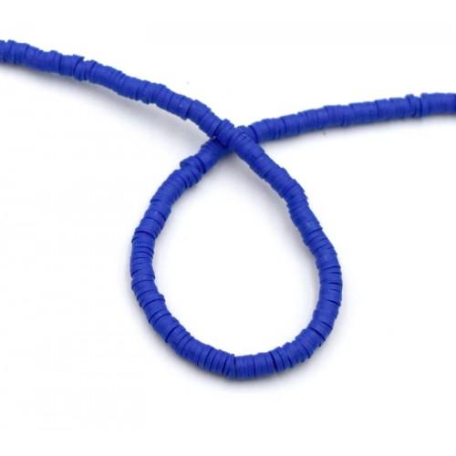 Χάντρες ροδέλες καουτσούκ 4mm  σε Navy blue-τιμή ανα σειρά (40 cm)