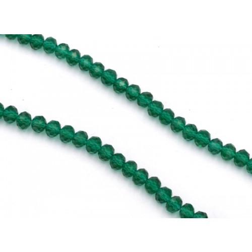 Ροδέλες κρύσταλλο 4x6mm σε πράσινο ημιδιάφανο-ανά σειρά