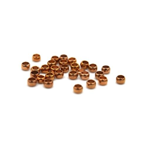 Στοπάκι ορειχ. 2.5mm - Φ1.5mm σε ροζ χρυσό - τιμή ανά συσκευασία των 10
