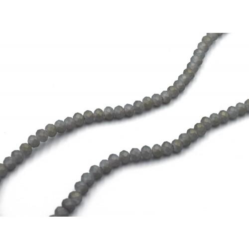 Ροδέλα κρύσταλλο ταγιέ φυμέ ματ χρώμα 6mm σε σειρά - τιμή ανά σειρά