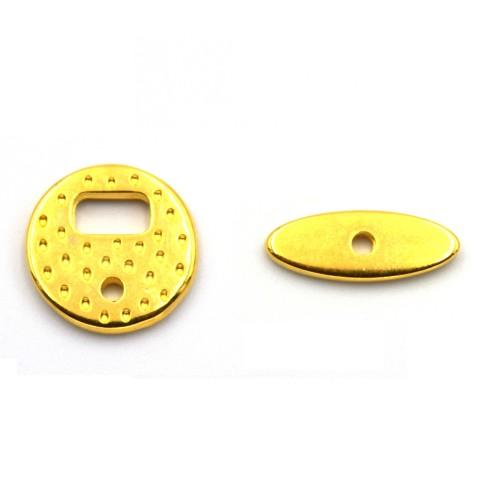 Κούμπωμα κυκλικό μίνι επιχρυσωμένο 24κ - τιμή ανά κούμπωμα