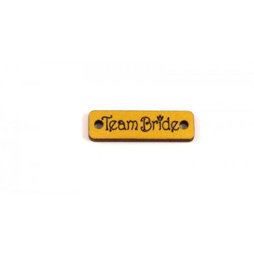 Ξύλινο στοιχείο ταυτότητα ''TeamBride''  σε χρυσό τιμή ανα τεμάχιο
