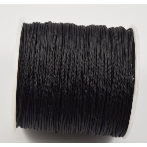 Κορδόνι μακραμέ ΜΑΤ 1mm σε μαύρο-ανα μέτρο