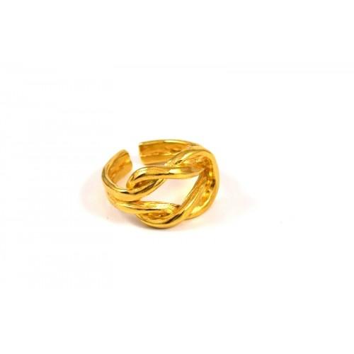 Δαχτυλίδι κόμπος του Ηρακλή επίχρυσο