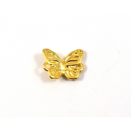 Μεταλλική πεταλούδα 15mm με δυο κρικάκια επίχρυση τιμή ανα τεμάχιο