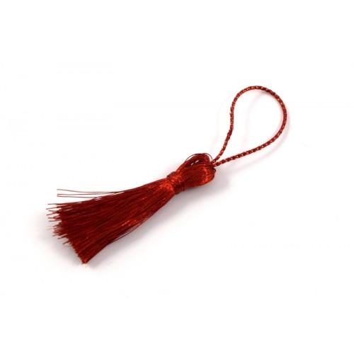 Φούντα με κορδόνι που ιριδίζει σε κόκκινο χρώμα-ανα τεμάχιο