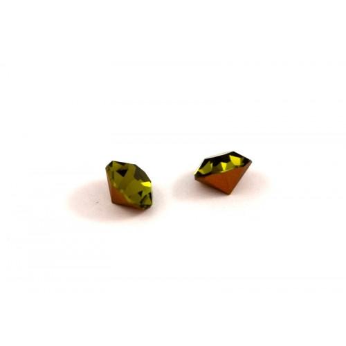 Κρυστάλλινο στρας κωνικό PRECIOSA SS39(~9mm) σε πράσινο λαδί χρώμα τιμή ανά τεμάχιο