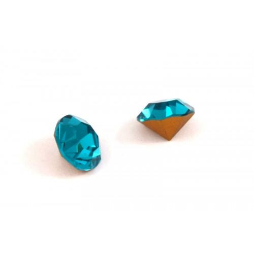 Κρυστάλλινο στρας κωνικό PRECIOSA SS39(~9mm) σε μπλε zircon χρώμα τιμή ανα τεμάχιο