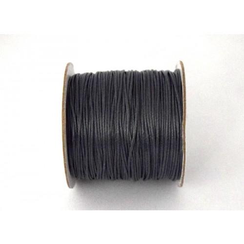 """Κορδόνι """"φίδι"""" 1mm σε γκρί σκούρο χρώμα τιμή ανα μέτρο"""