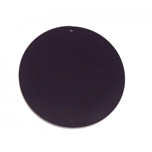 Στρογγυλό κρεμαστό 60mm σε μαύρο χρώμα-ανα τεμάχιο