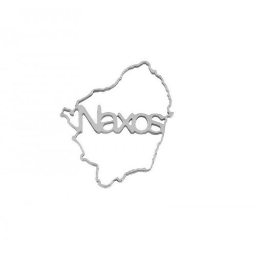 Μικρό περίγραμμα από ατσάλι Νάξος 20mm σε ασημί-ανά τεμάχιο