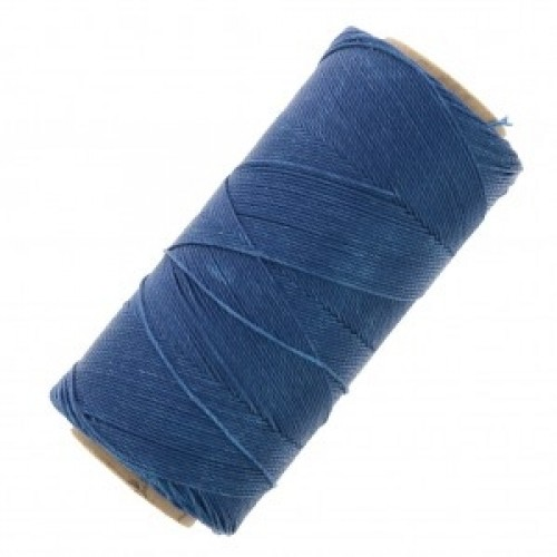 Κερωμένο κορδόνι Linhasita 1mm με ελαφρύ κέρωμα σε lapis blue χρώμα Τιμή ανά καρούλι 180m(μέτρα)