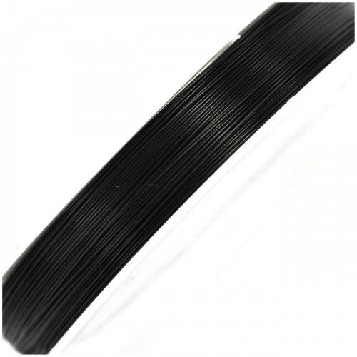 Ατσαλόσυρμα πλαστικοποιημένο σε μαύρο χρωμα 0.45mm - τιμη ανα καρουλι 100 μέτρων