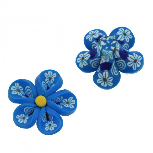 Μοτίφ Φίμο Λουλούδι 25mm με σχέδιο - τιμή ανά τεμάχιο