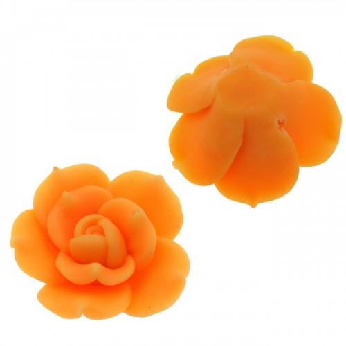 Μοτίφ Φίμο Τριαντάφυλλο 35mm πορτοκαλί - τιμή ανά τεμάχιο