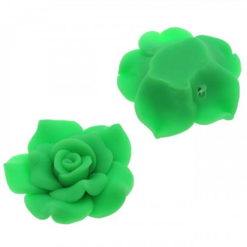 Μοτίφ Φίμο μεγάλο Τριαντάφυλλο 35mm πράσινο - τιμή ανά τεμάχιο
