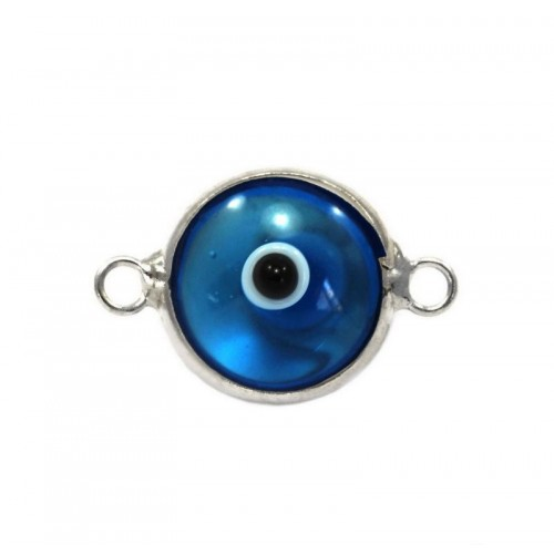 Μάτι murano με 2 κρικάκια από ασήμι 925 σε οινοπνευματί χρώμα-ανα τεμάχιο