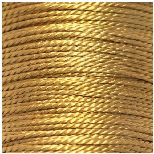 Κορδόνι στριφτό 1.2mm με δυνατότητα να καίγεται σε χρυσό χρώμα-ανά μέτρο